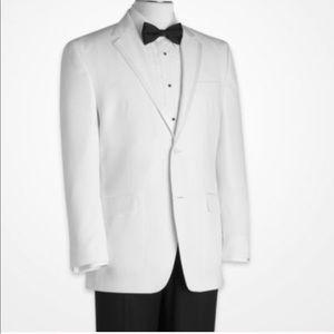 Sean John white tuxedo blazer with satin trim